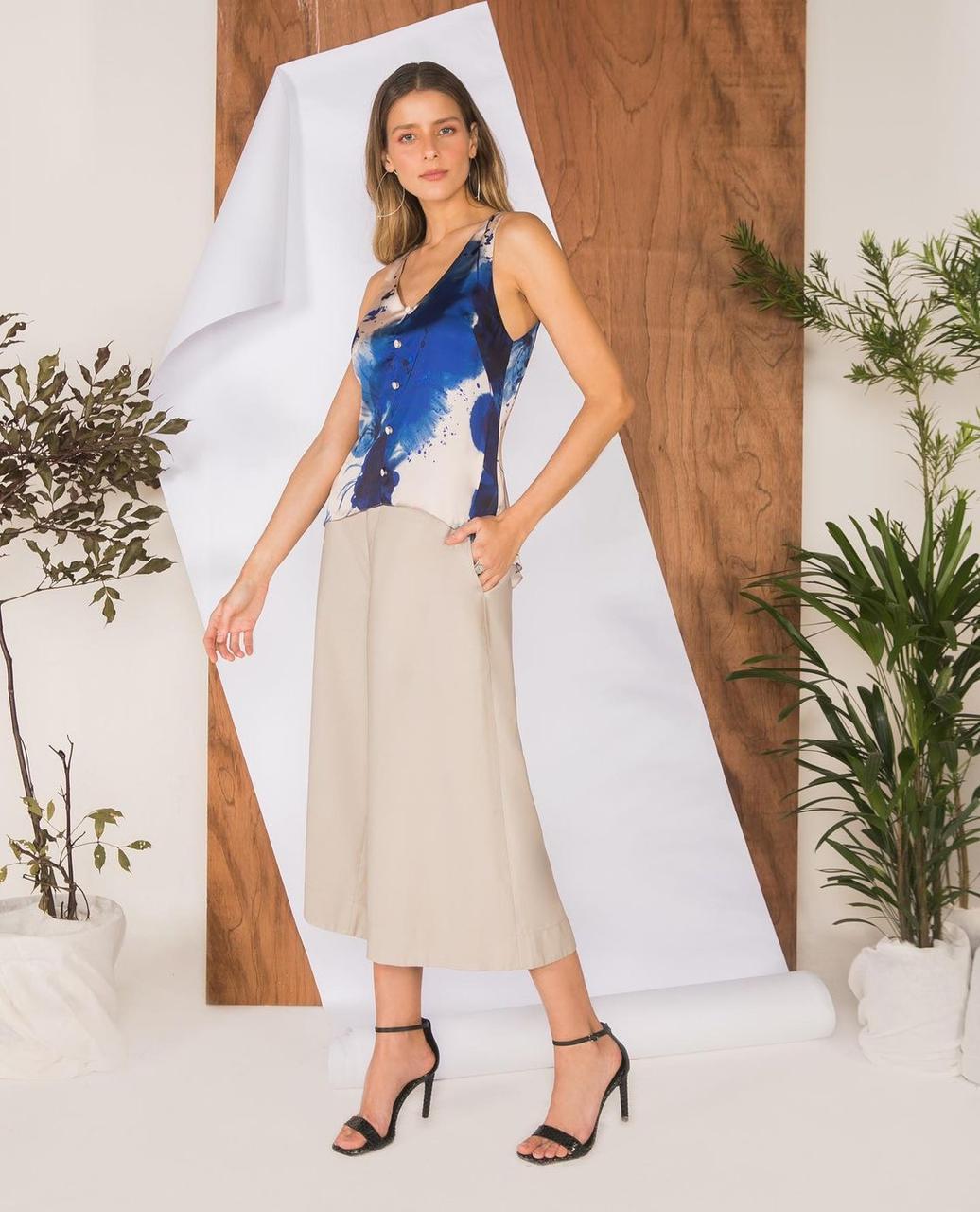Blusa Regata Mauy multi estampa floral