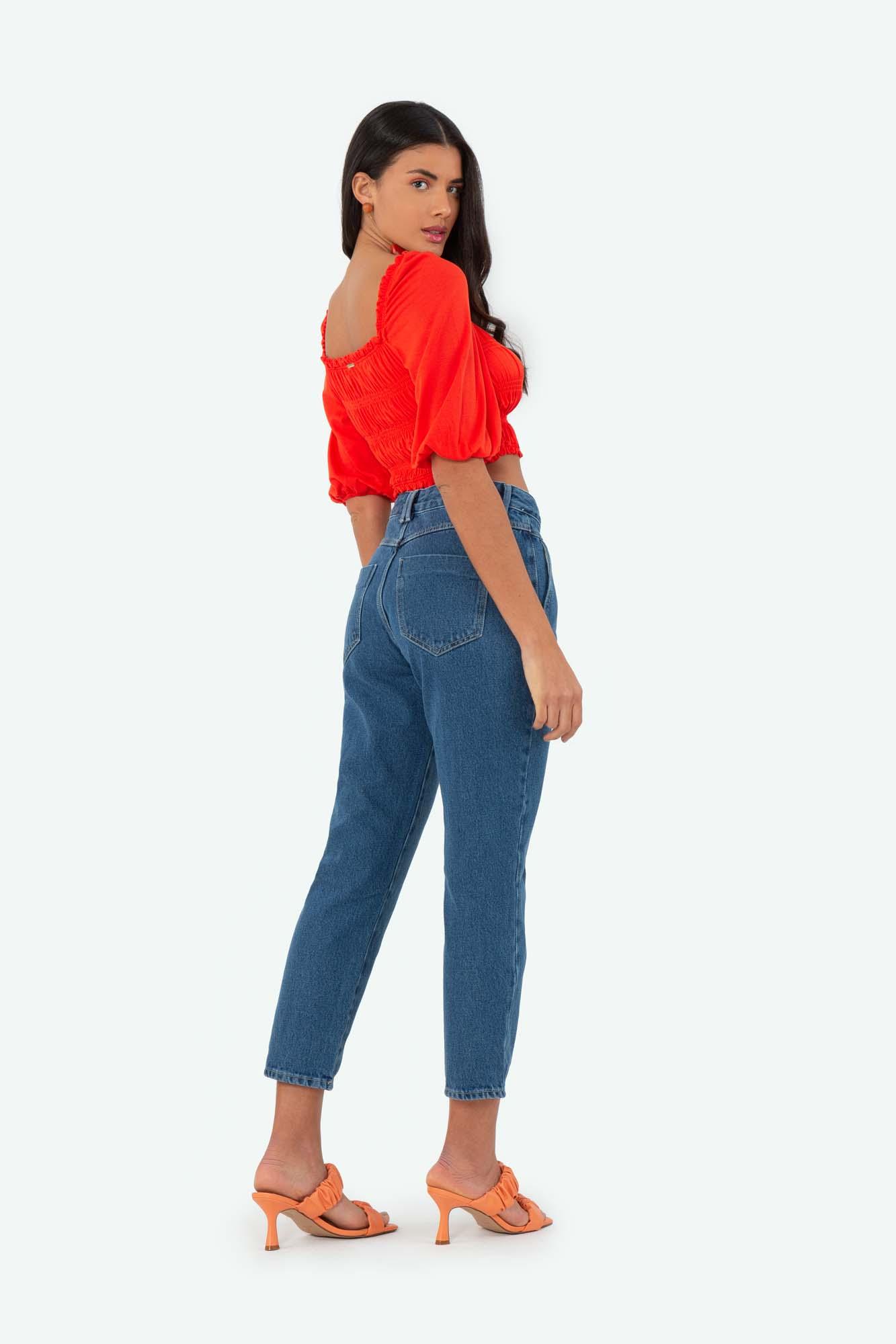 Calça Flor de Lis slouchy jeans - Lavagem média