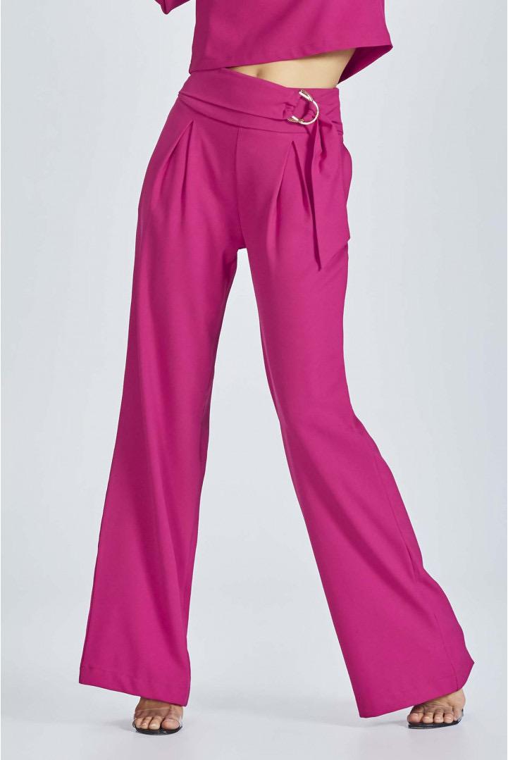 Calça Flor de Lis solta pantalona