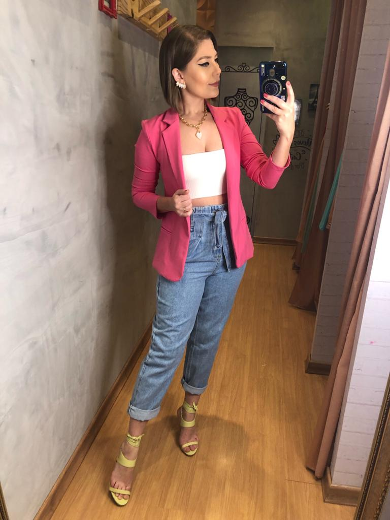 Calça jeans clochard Maya
