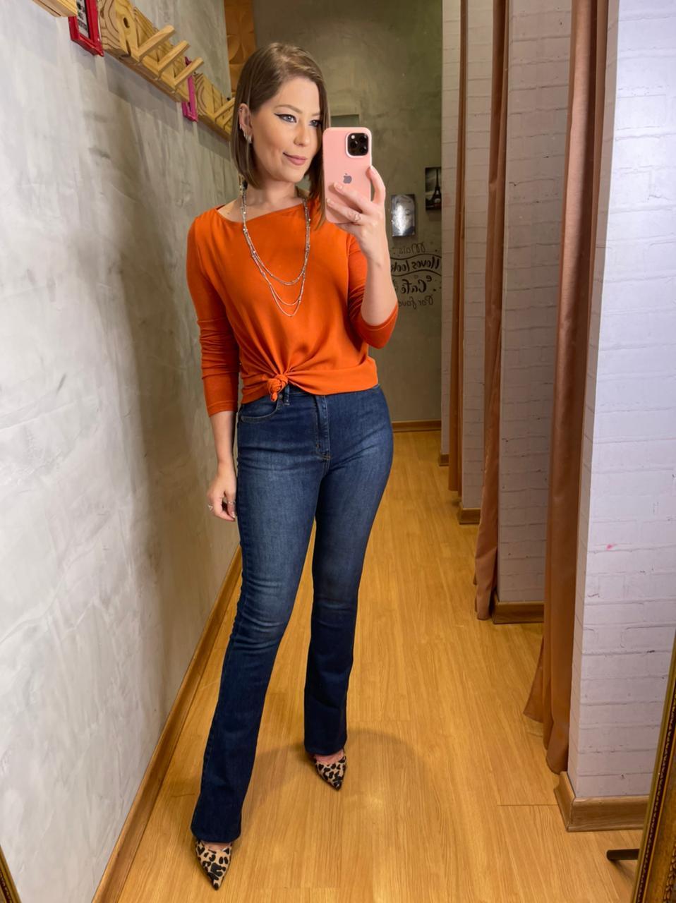 Calça jeans My Place Flare Basic