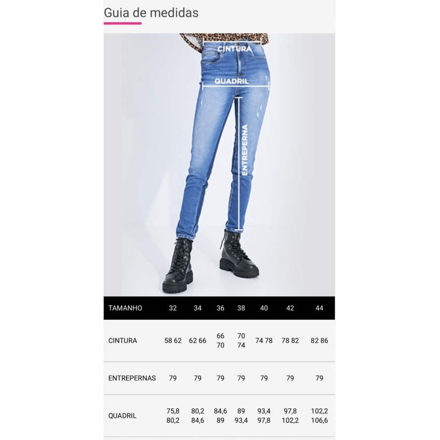 Calça jeans utilitária