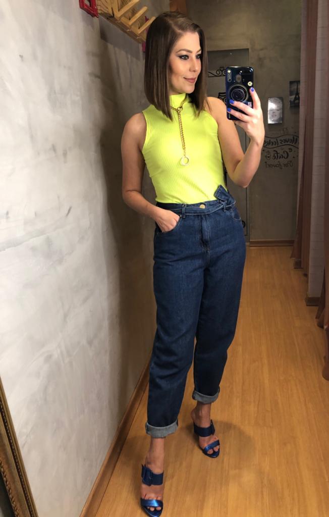 Calça mom jeans tribeca