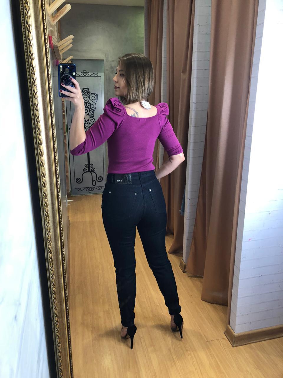 Calça my palce skinny alta jeans bella