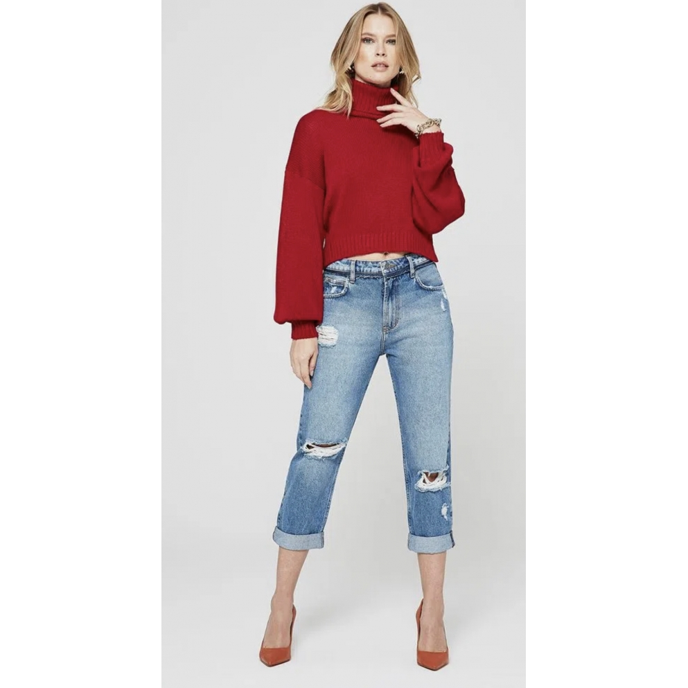 Calça My Place jeans reta