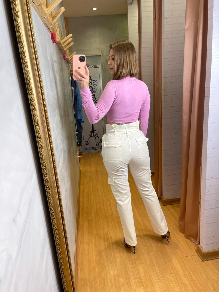 Calça Sly Clochard bolso lateral sarja
