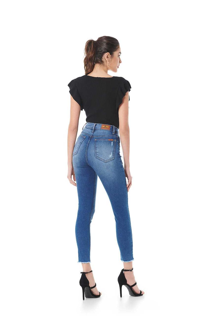 Calça Sly jeans skinny destroyed elastano