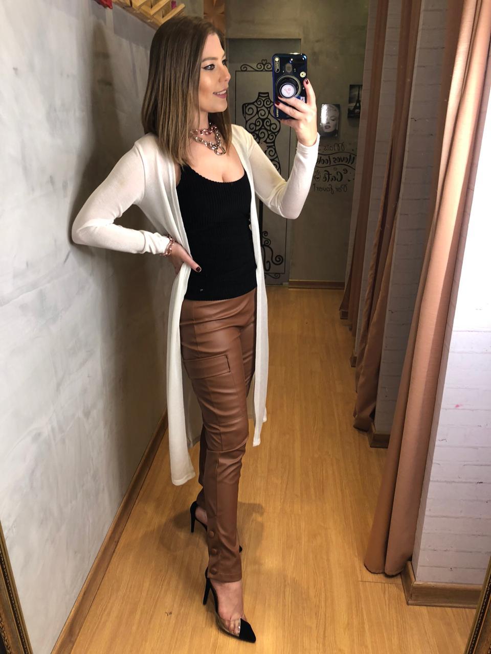 Cardigan longo tricot