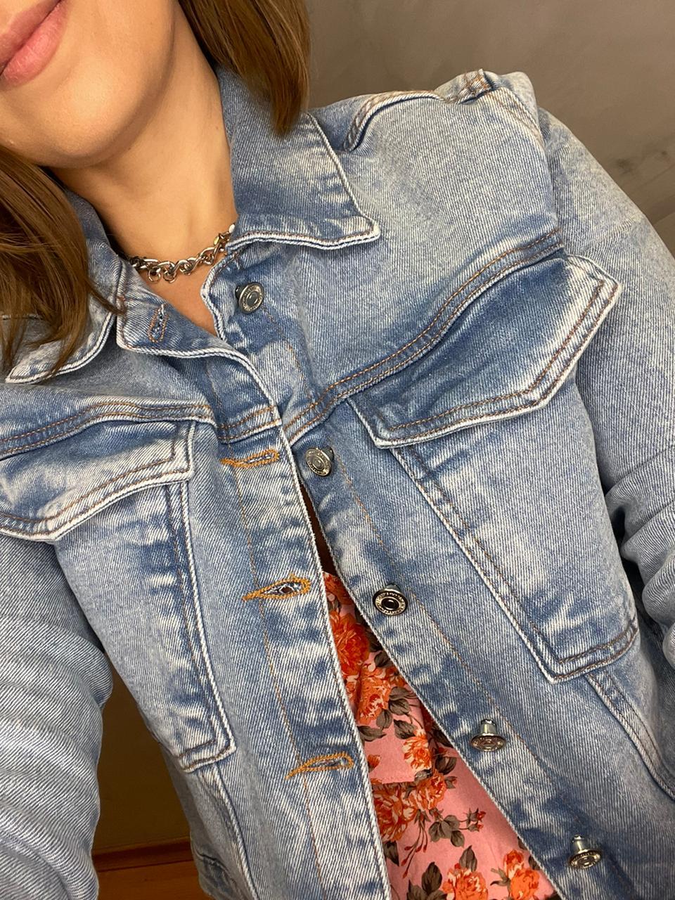 Jaqueta myft jeans acinturada