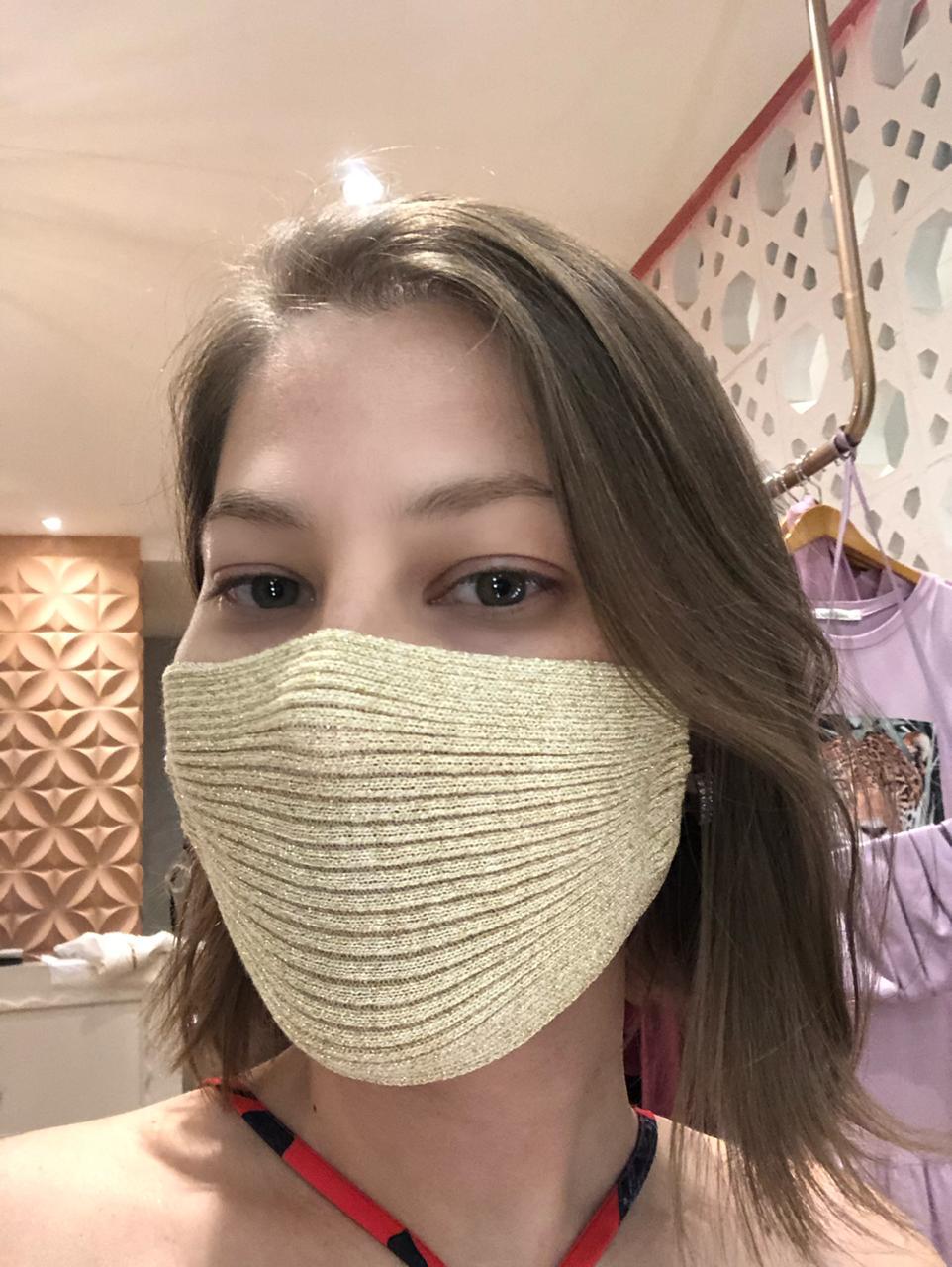 Máscara lurex