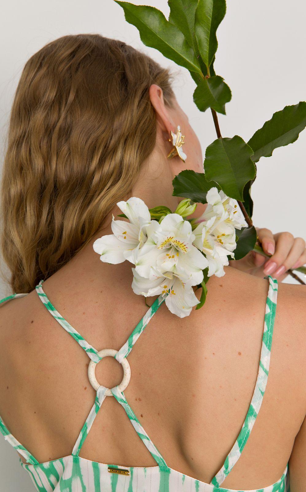 Regata Flor de Lis solta estampa abstrata