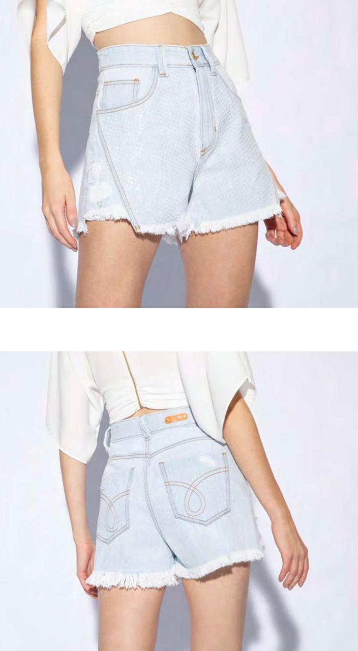 Short flor de lis confort jeans