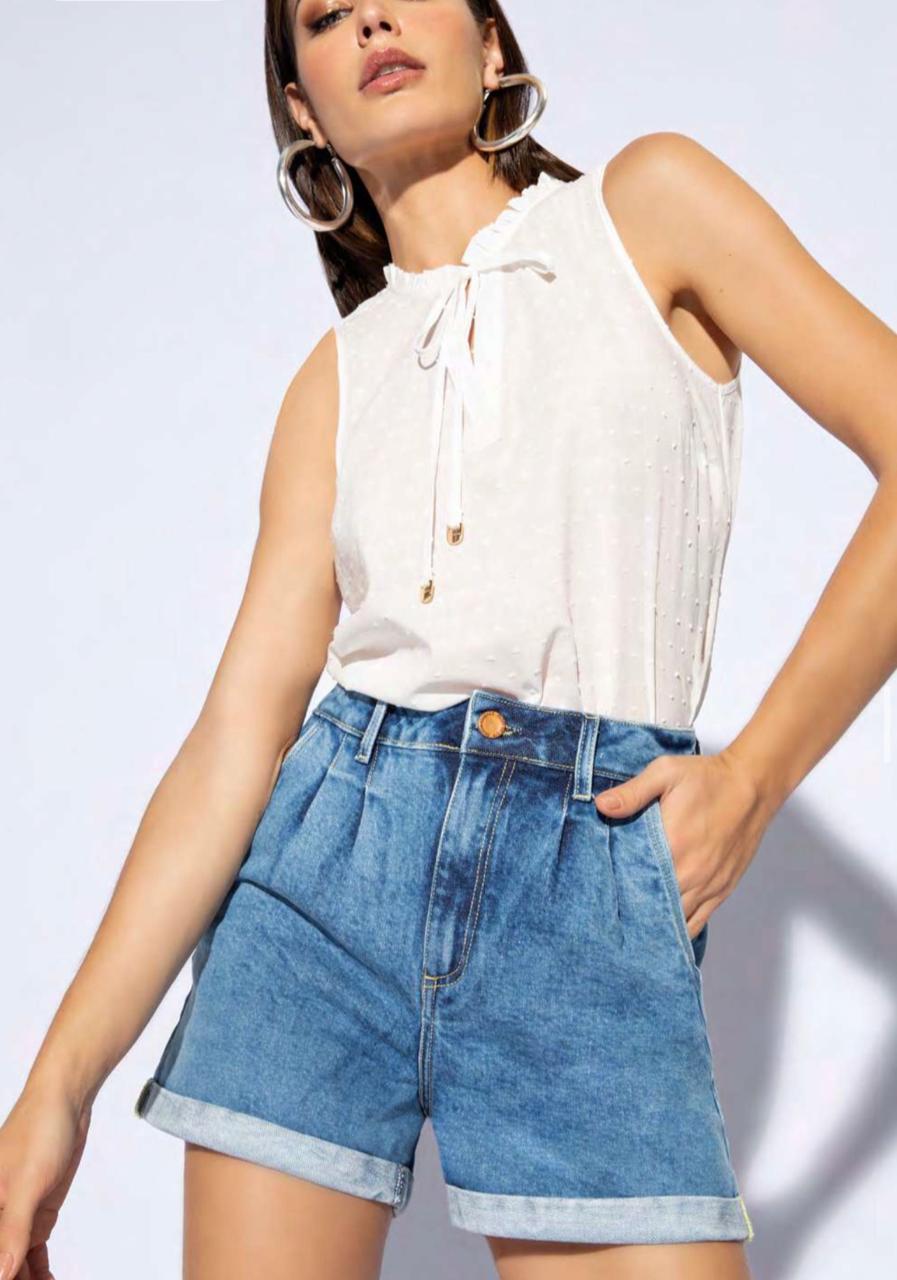 Short Flor de lis jeans mon
