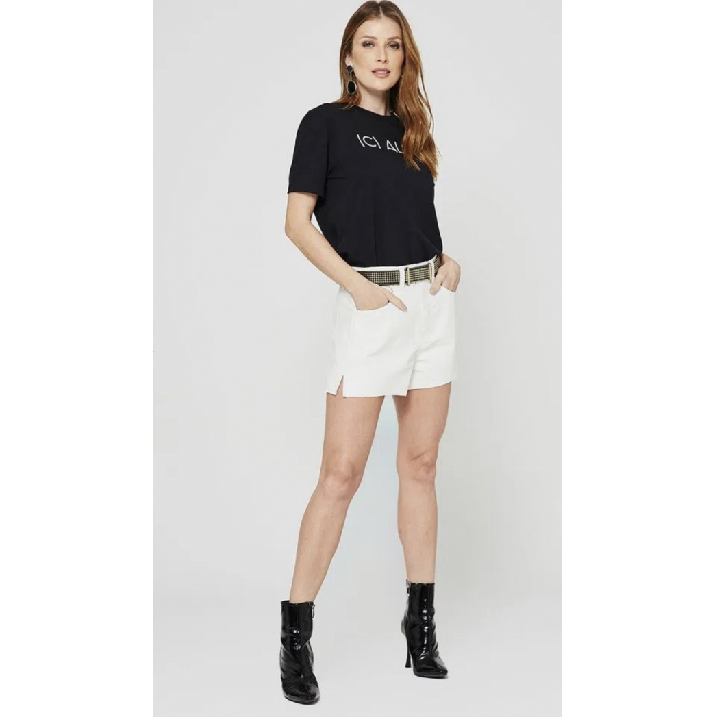 Short My Place 5 pockets couro eco