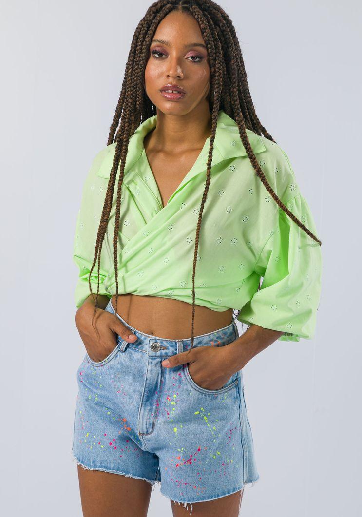 Short Myft hot pants respingos coloridos