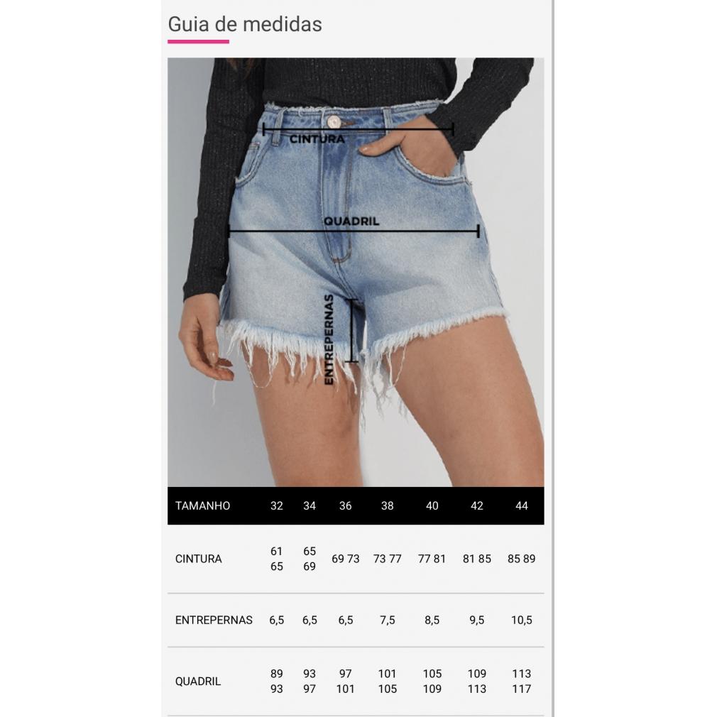 Short myft jeans detalhe zíper lateral