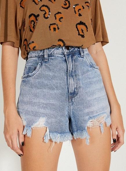Short open jeans mia índigo