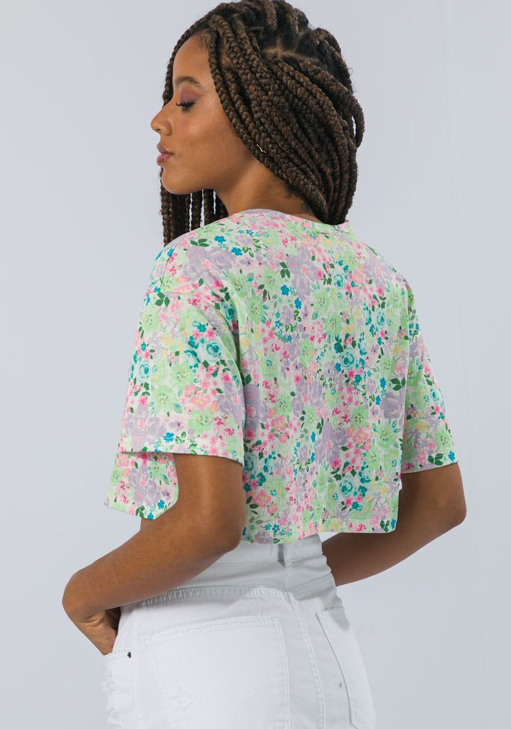 T-shirt Myft Cropped mini flores