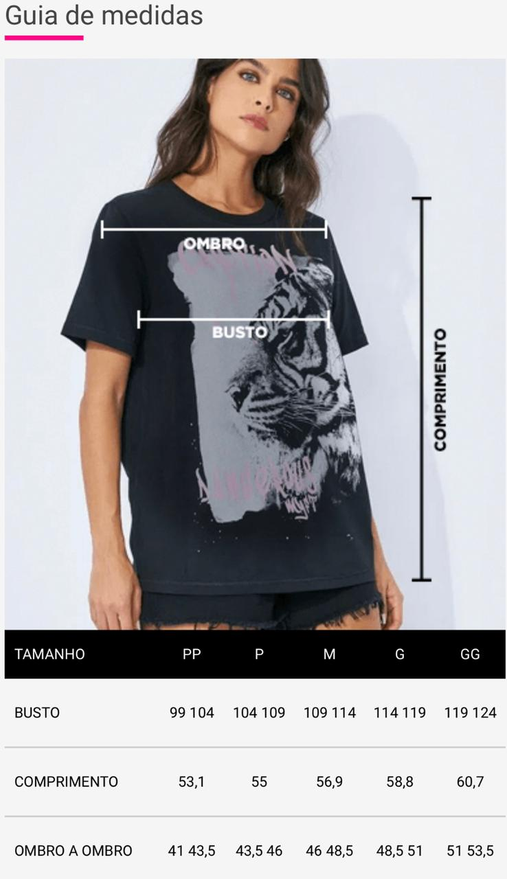 T-Shirt Myft onça colorida