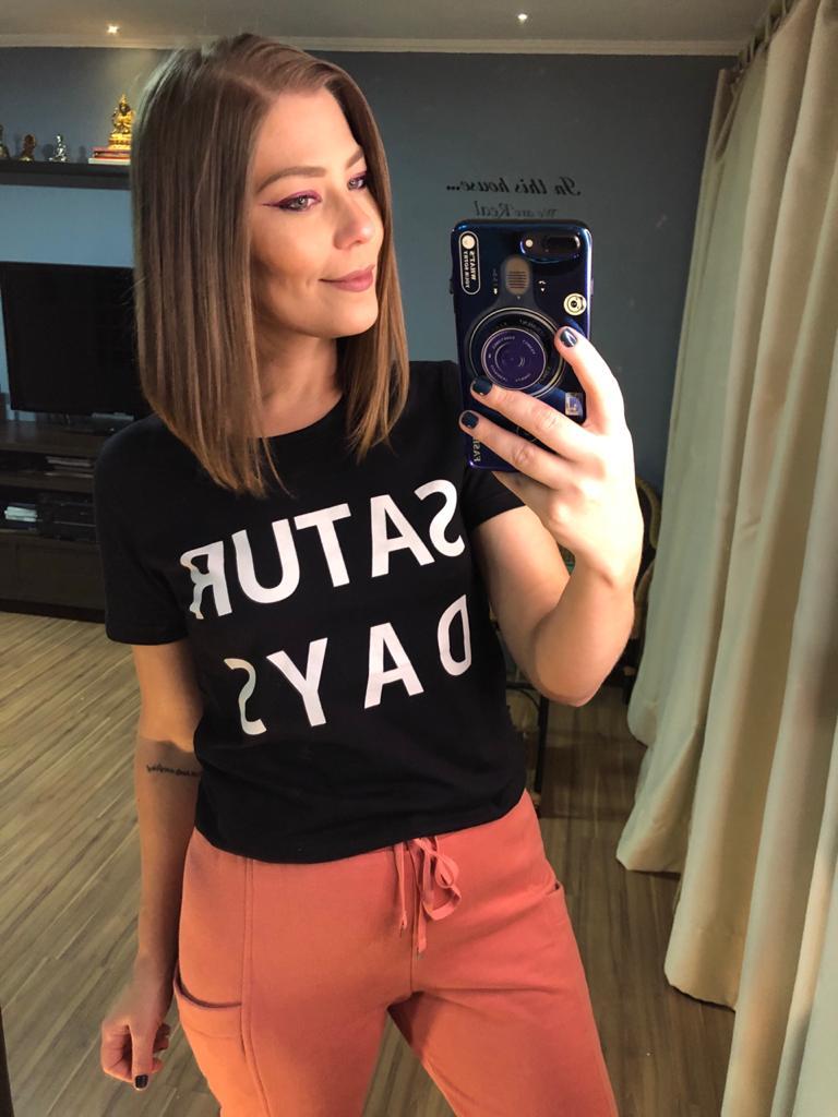 T-shirt silk sábado