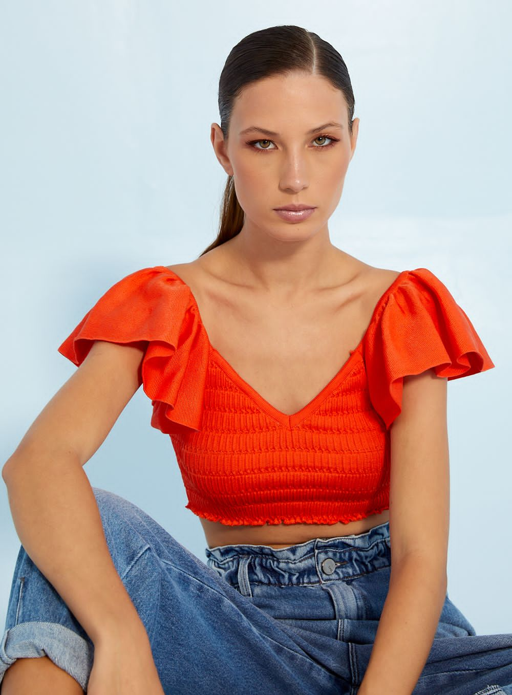 Top Open tricot rayon
