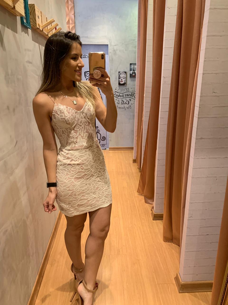 Vestido  bojo renda bicolor