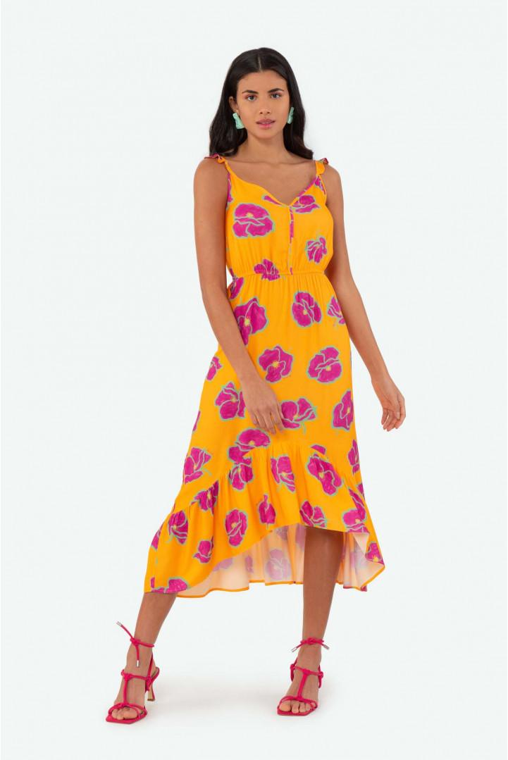 Vestido Flor de Lis estampa floral