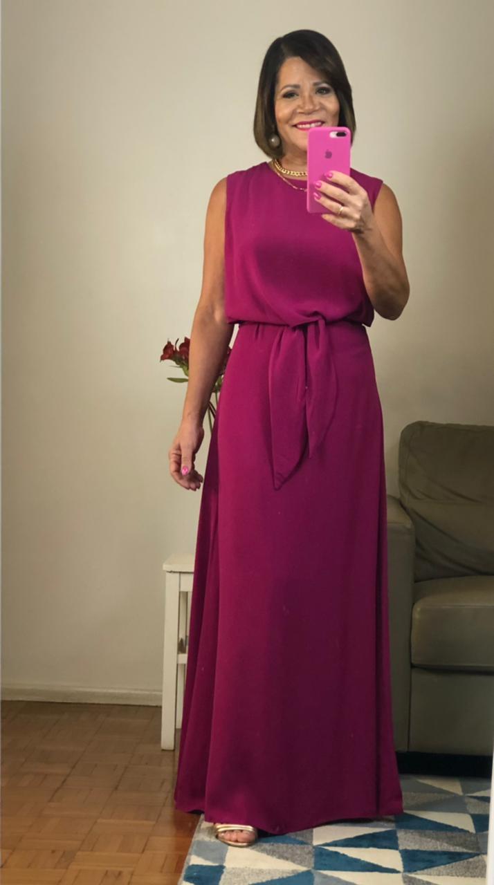 Vestido Mauy longuete com amarração frente