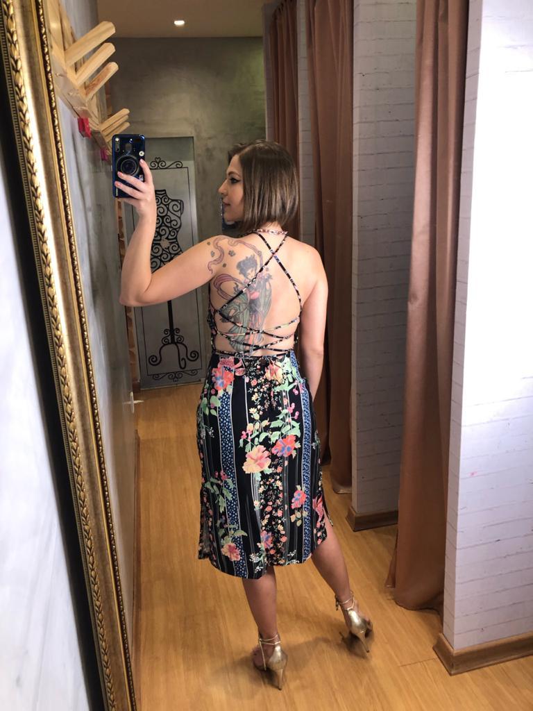 Vestido my place fenda est flora