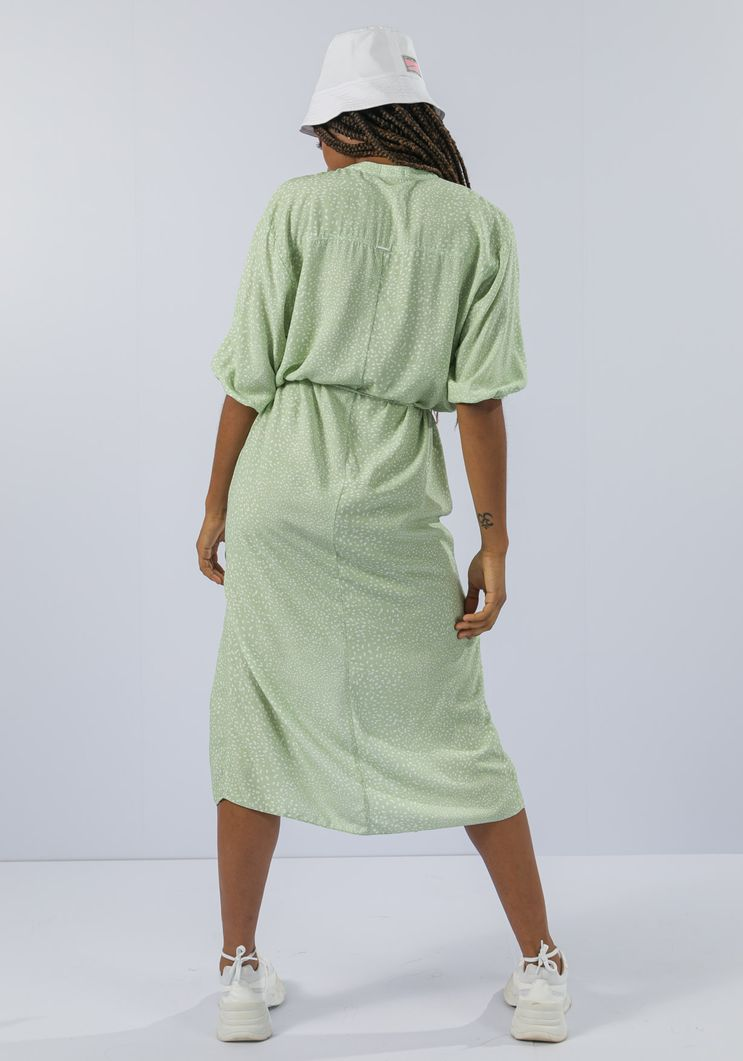 Vestido Myft chemise longa com faixa