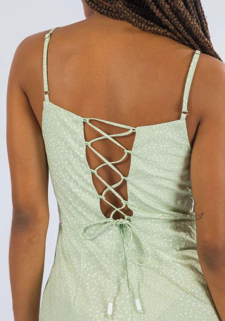 Vestido Myft curto alças amarração