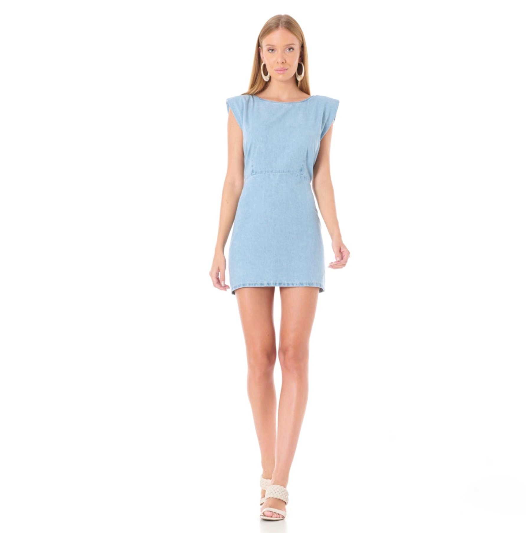 Vestido Sly jeans curto muscle tee