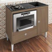 Balcão Compacto Multifuncional Cooktop, Forno E Pia Mônaco Montana - Art In Móveis