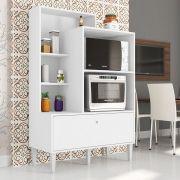 Balcão Para Fornos Com Porta Basculante Amsterdã Branco - Art In Móveis