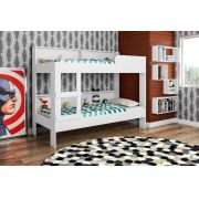 Beliche 90 Com Estante Miami Branco - Art In Móveis