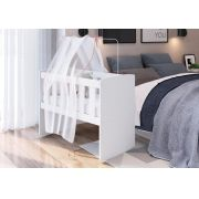 Berço Infantil Bedside Sleepers com Balanço Soneca Branco - Art in Móveis