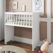 Mini Berço Infantil Bedside Sleepers Soneca Alto Branco - Art In Móveis