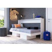 Cama Articulável Horizontal de Solteiro 90 Branco - Art in móveis