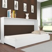Cama Articulável Quarto Solteiro Sun Branco - Art In Móveis