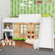Cama Infantil 80 Playground com Escorregador Branco - Art In Móveis