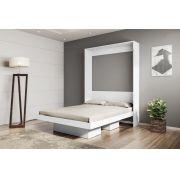 Cama Multifuncional Articulável Casal 140 Manhattan Branco - Art in móveis