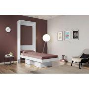 Cama Multifuncional Articulável Solteiro 80 Manhattan Branco - Art in móveis