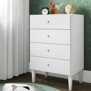 Cômoda Meu Fofinho 4 Gavetas Infantil Branco - Art In Móveis