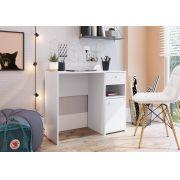 Escrivaninha com porta e Gaveta Coimbra Branco - Art In Móveis