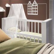 Berço Mesa Infantil Bedside Sleepers Gominha Multifuncional Branco - Art In Móveis