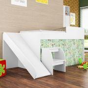 Mini Cama Infantil com Escorregador Meu Fofinho Branco - Art In Móveis