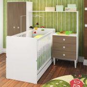 Quarto Infantil Multifuncional Completo Berço com Cama Guarda Roupa 2 Portas  Montana - Art In Móveis