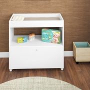 Trocador de Fraldas Algodão Doce Infantil Branco - Art In Móveis
