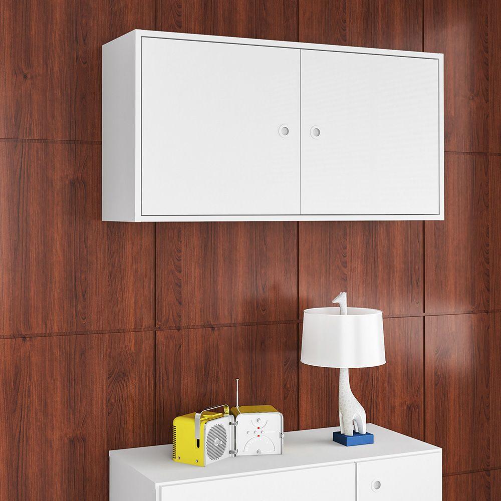 Armário Aéreo com 2 Portas Sun Branco - Art In Móveis