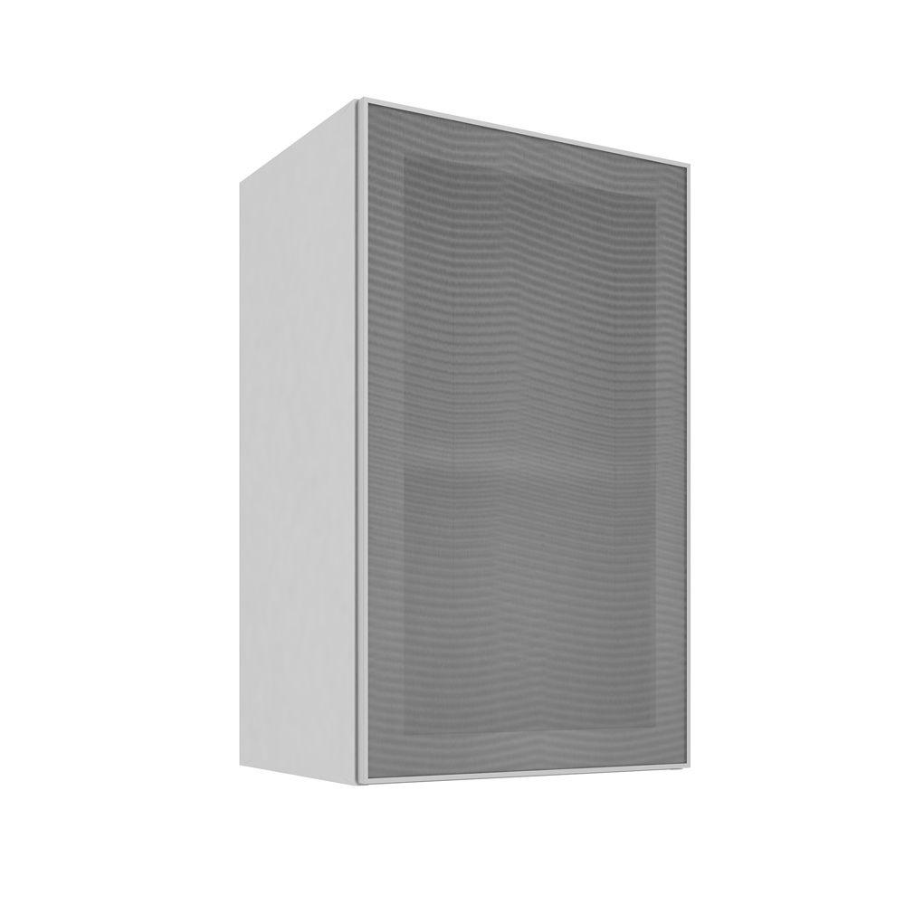 Armário Aéreo com 1 Porta de Vidro 40X66 Branco/Alumínio - Art In Móveis